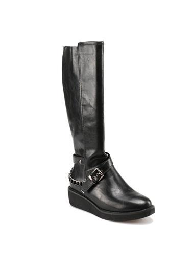 Miss F Fermuarlı Çizme Siyah